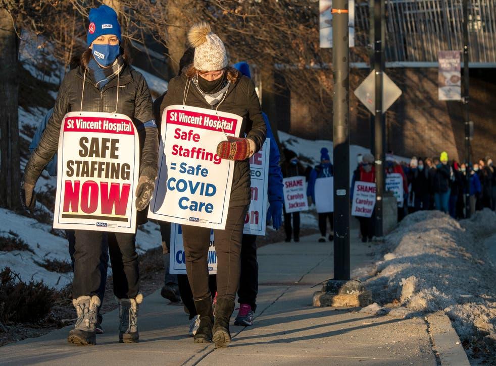 Virus Outbreak Nurses Strike
