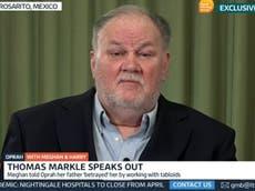 Thomas Markle, padre de Meghan, dice que comentario sobre el color de piel de Archie fue 'solo una pregunta estúpida'