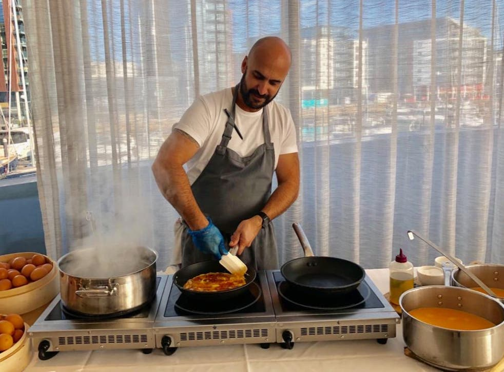 <p>Meziane became a chef after his dream of being a football player fell through</p>