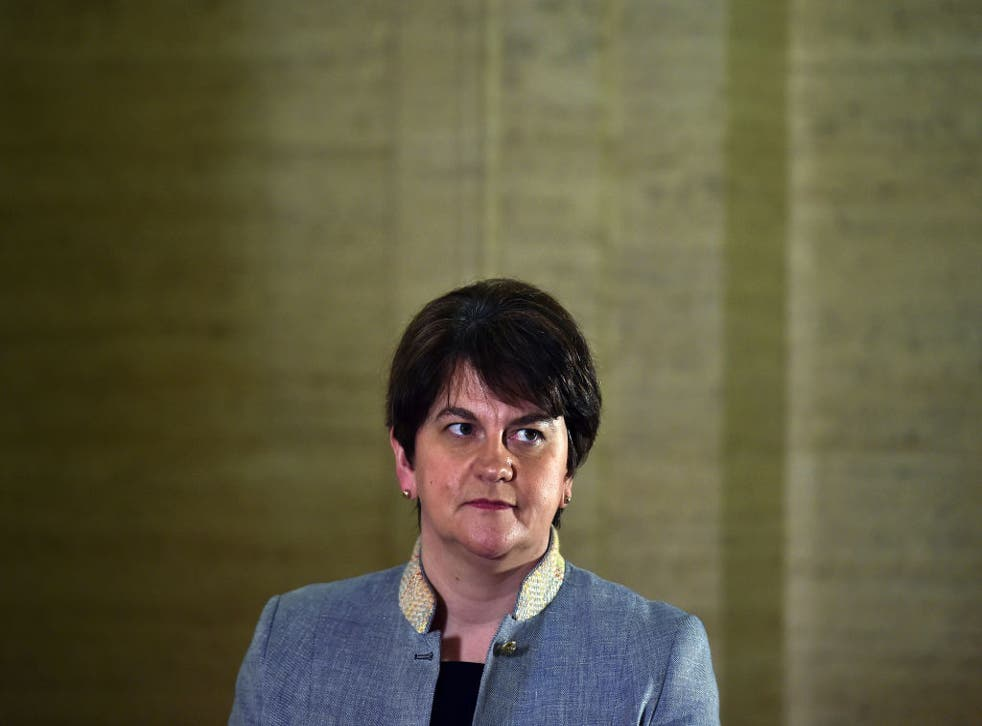 <p>Ms Foster's DUP is calling for the protocol to be scrapped</p>