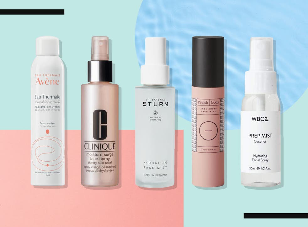 <p>You can spritz these on while bare-faced, or after you've done your make-up</p>