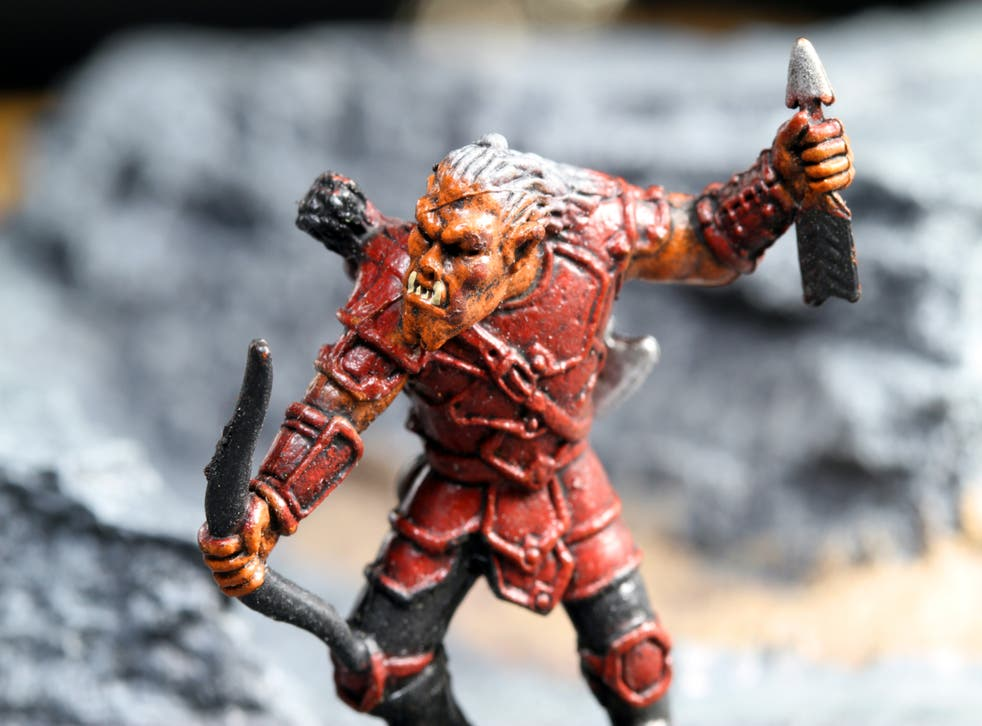 <p>Only a game: Model of a hobgoblin archer from <em>Wizards of the Coast</em></p>