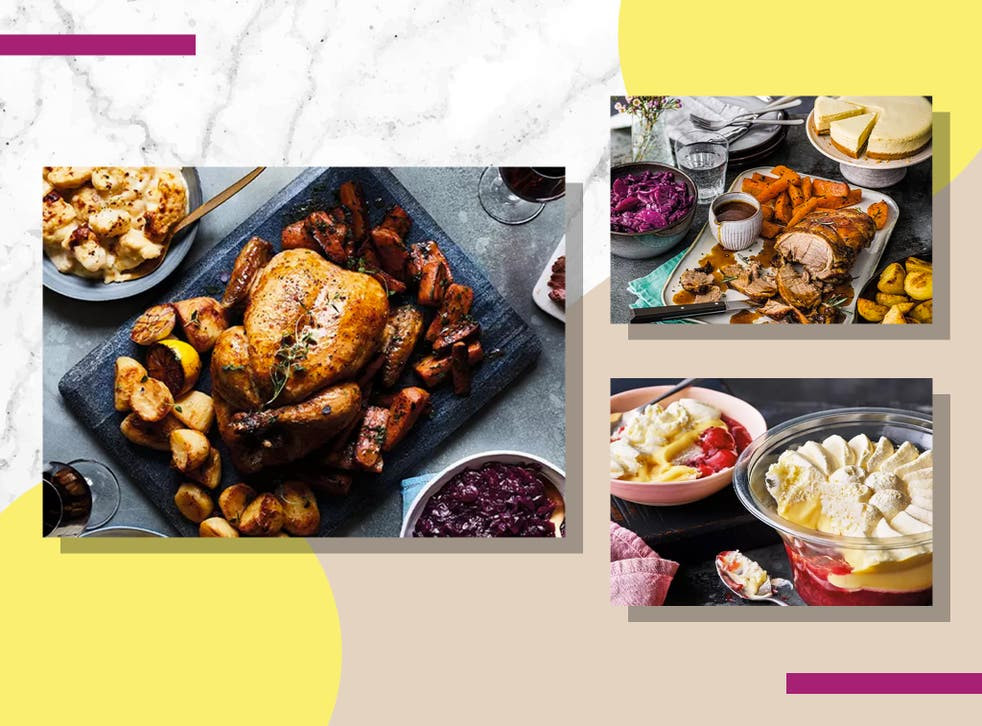<p>You're spoilt for choice with a main, three sides and dessert</p>