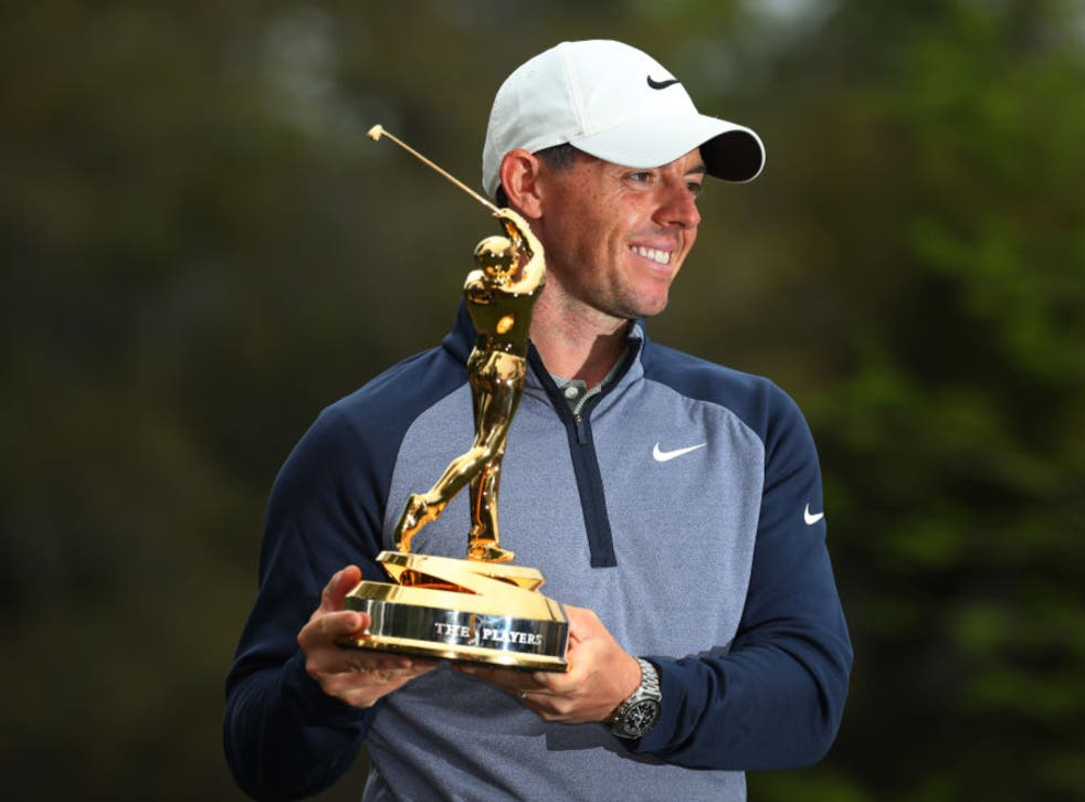 <p>Rory McIlroy wins the Players Championship in 2019</p>