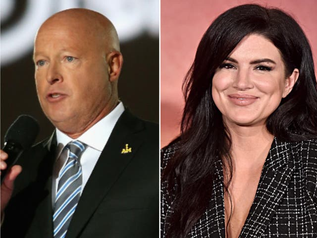 <p>Disney CEO talks Gina Carano firing, says Disney stands for 'values that are universal'</p>