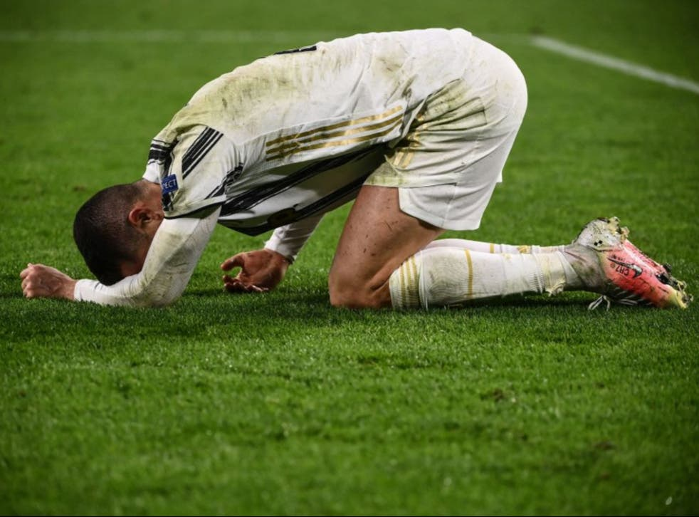<p>Ronaldo's Juventus exited the Champions League at the last-16 stage for the second year in a row</p>
