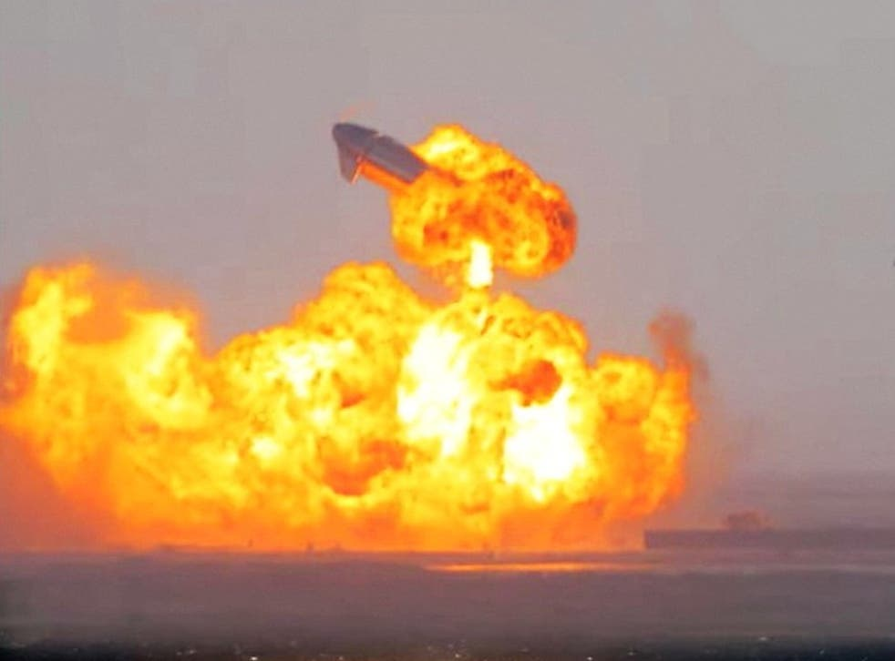 SpaceX Starship SN10 explodes after landing at South Padre Island, Texas, 3 March, 2021