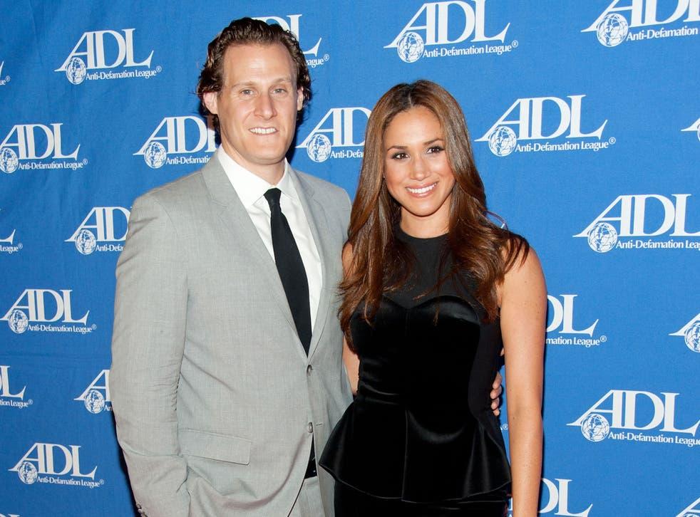 <p>Meghan Markle with her ex-husband Trevor Engelson.</p>