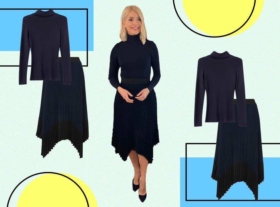 <p>Holly opted for tonal dressing with her ensemble</p>