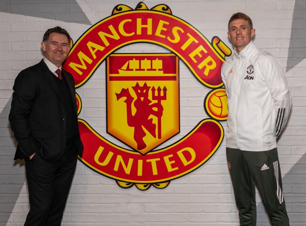 Manhcester United football director John Murtough and technical director Darren Fletcher