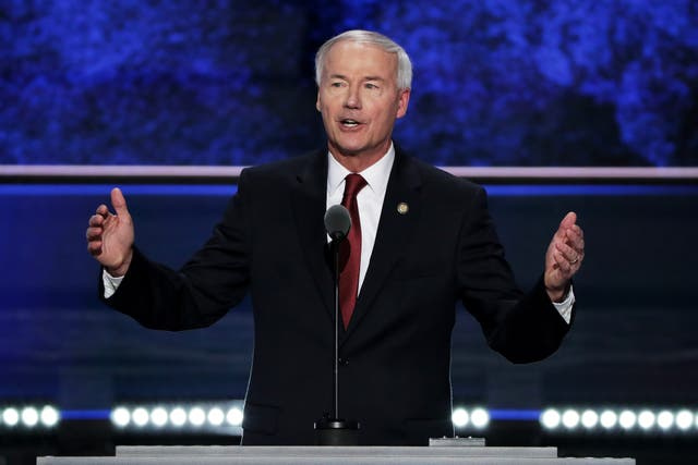 <p>Arkansas Governor Asa Hutchinson signs bill that bans nearly all abortion services in his state</p>