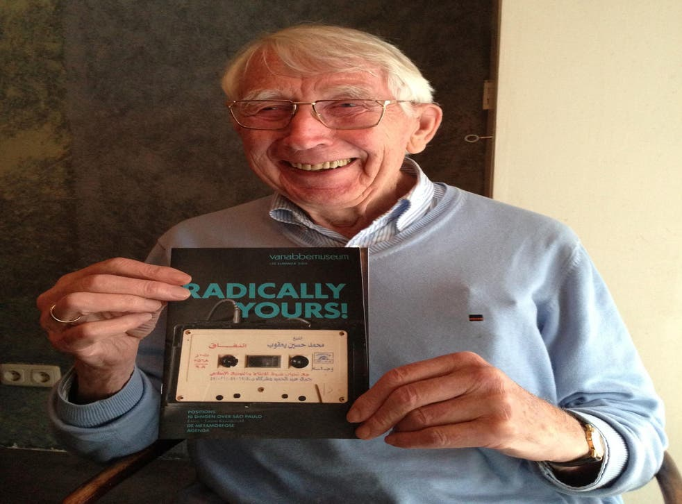 <p>Lou Ottens, inventor of the cassette tape, pictured on Twitter in 2014 during the promotion of the film Cassette: A Documentary Mixtape</p>