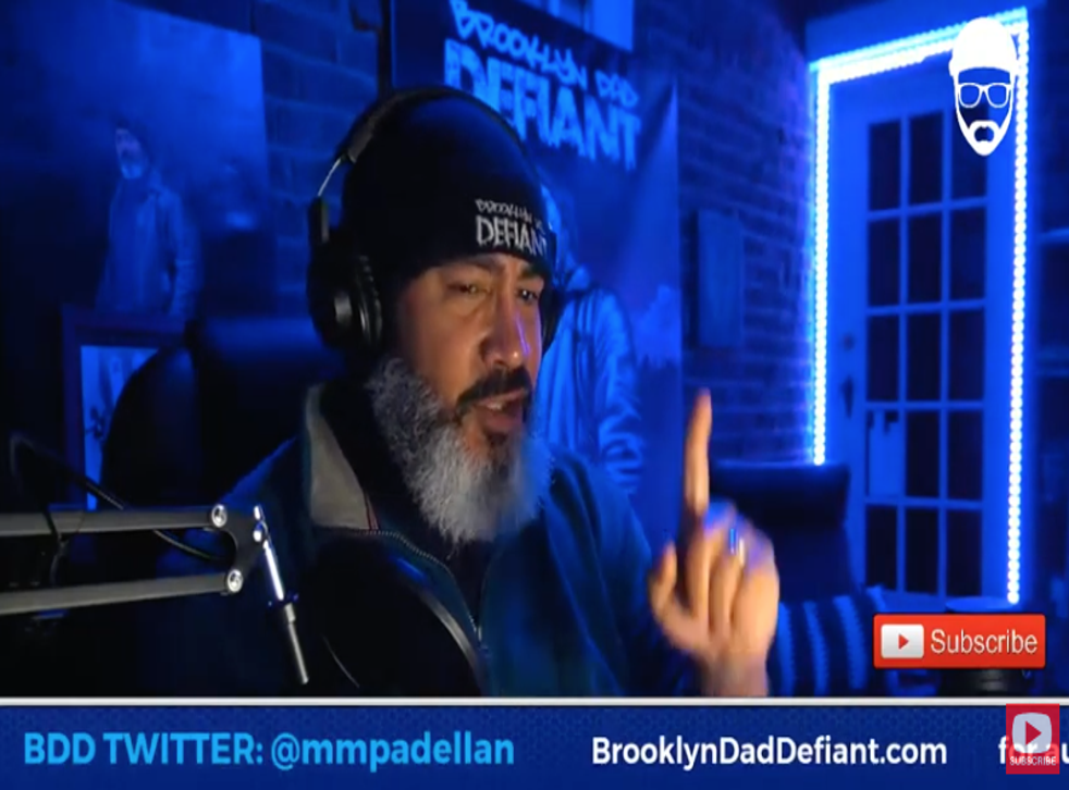 Popular blogger BrooklynDad Defiant on his YouTube show 'Storytime with BDD' on 16 February 2021