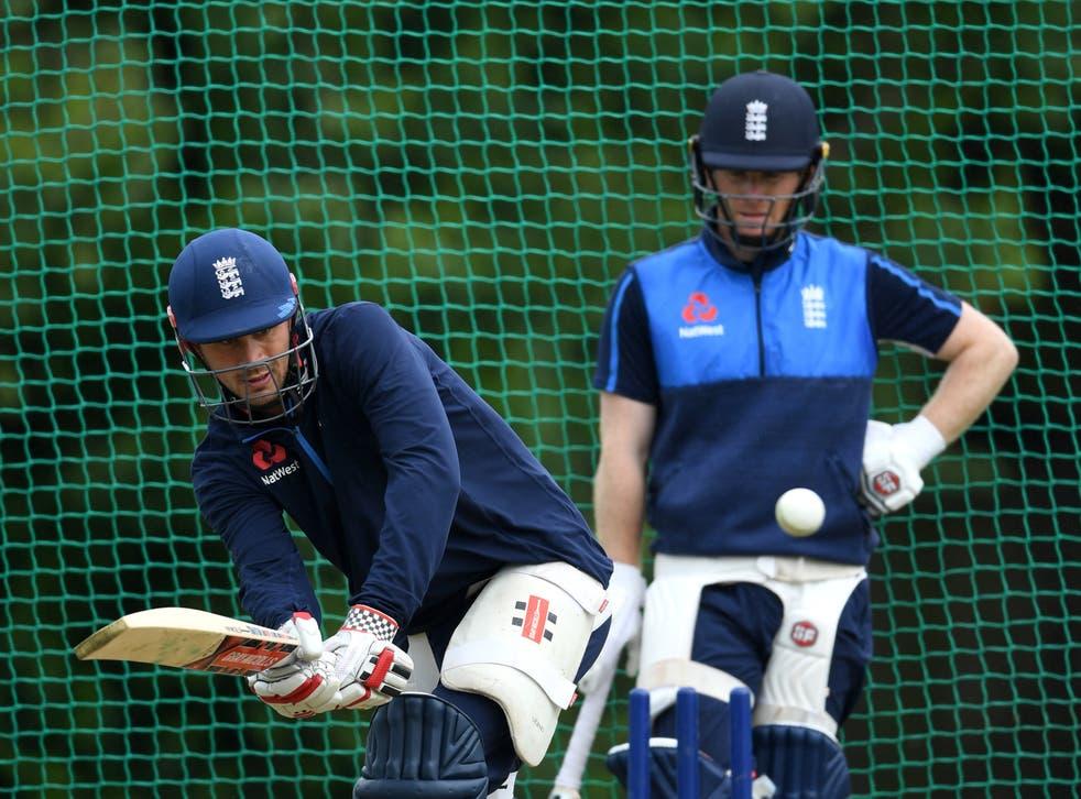 England batsmen Alex Hales and Eoin Morgan