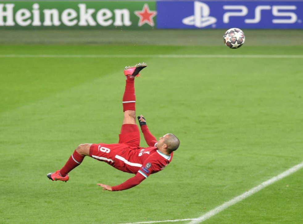 <p>Thiago in action against RB Leipzig</p>