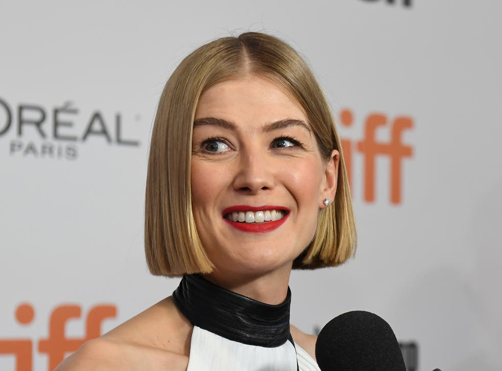 I Care a Lot actor Rosamund Pike at an event in 2019