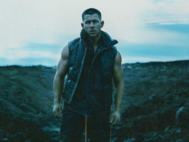 Nick Jonas in artwork for Spaceman
