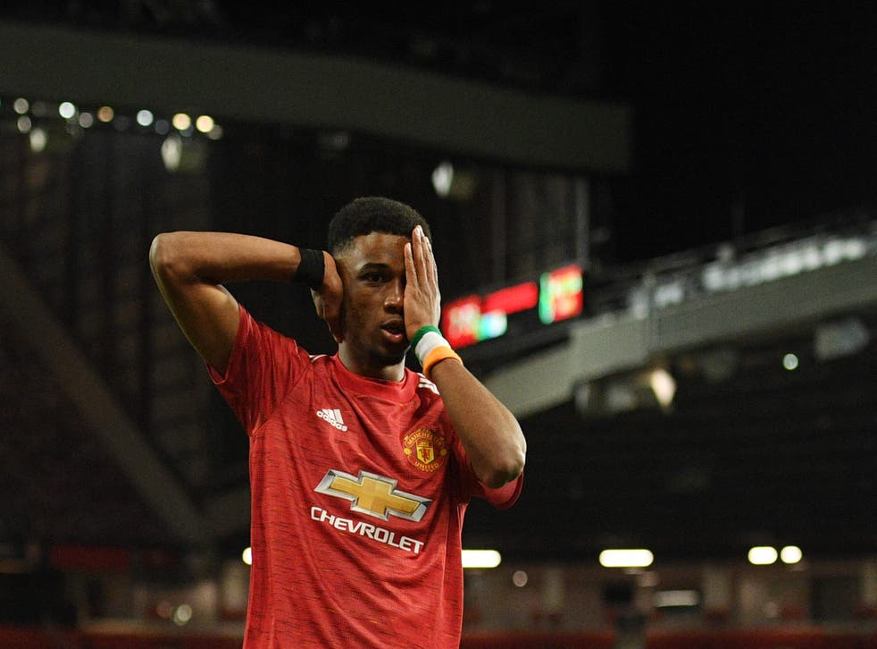Amad scored United's only goal of the night
