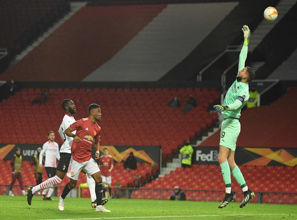Amad Diallo scores Manchester United's only goal of the night