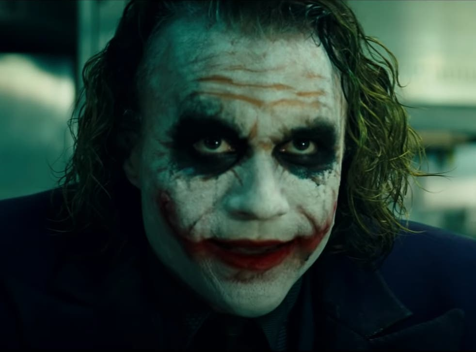 <p>Heath Ledger as the Joker in 'The Dark Knight'</p>