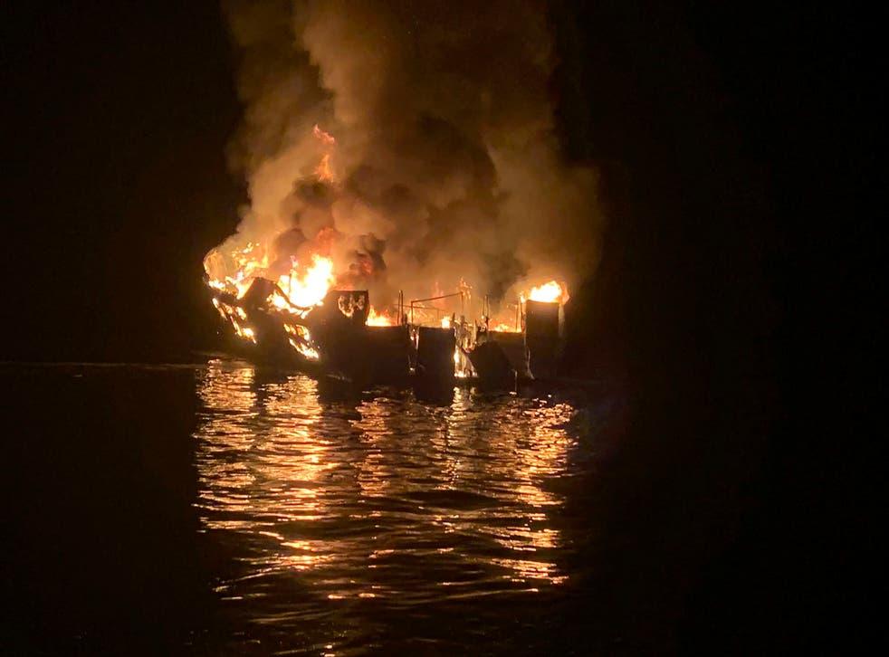 California Boat Fire