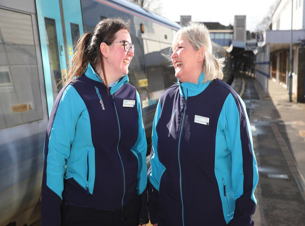A mother and daughter train driving duo will celebrate Mother's Day on the rail network (Southeastern/PA)