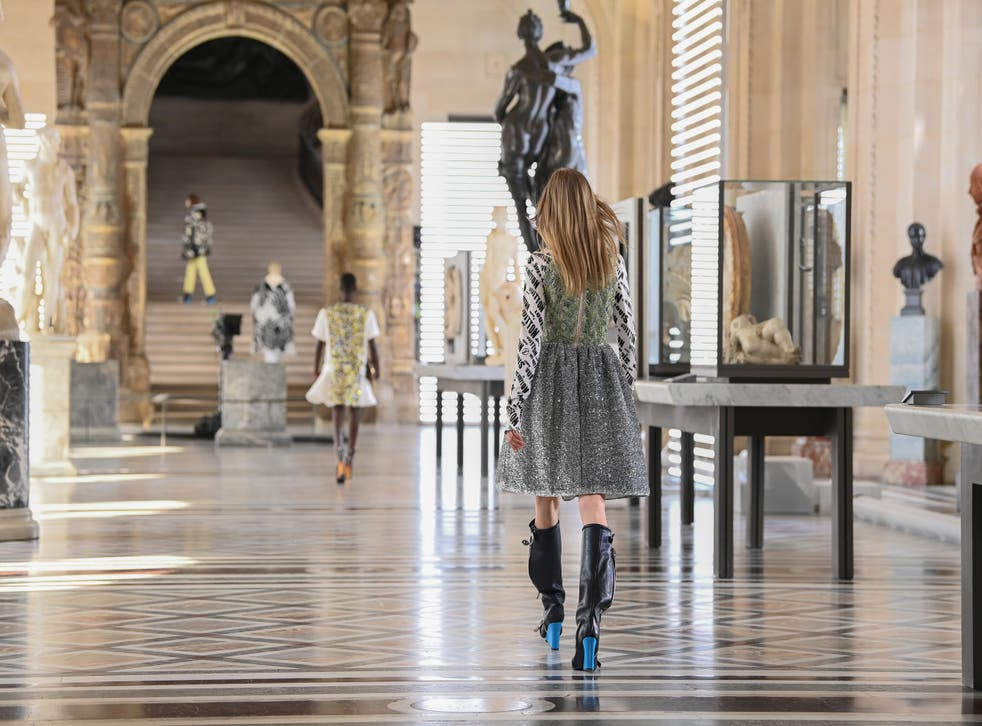 <p>Vuitton was back in the Louvre for a show that travelled where we currently cannot</p>