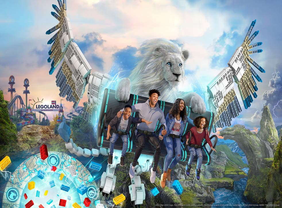 An artist's impression of Legoland's new Flight Of The Sky Lion ride