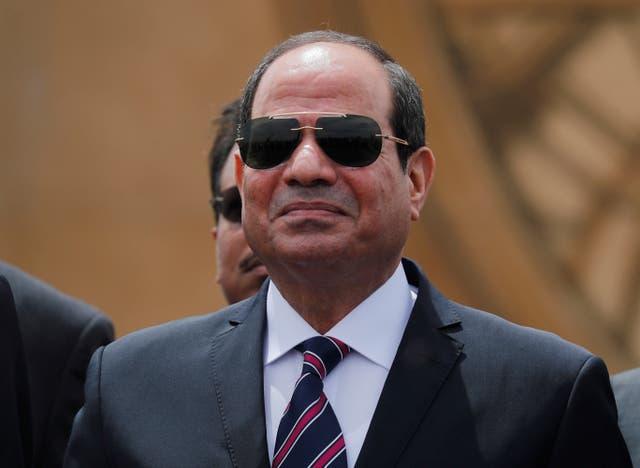 Dressed down: Egyptian President Abdel Fattah al-Sisi