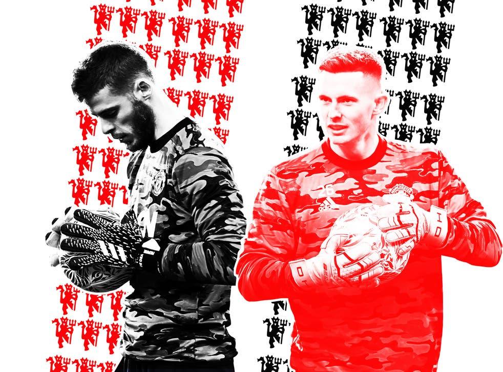 Manchester United goalkeepers David de Gea and Dean Henderson