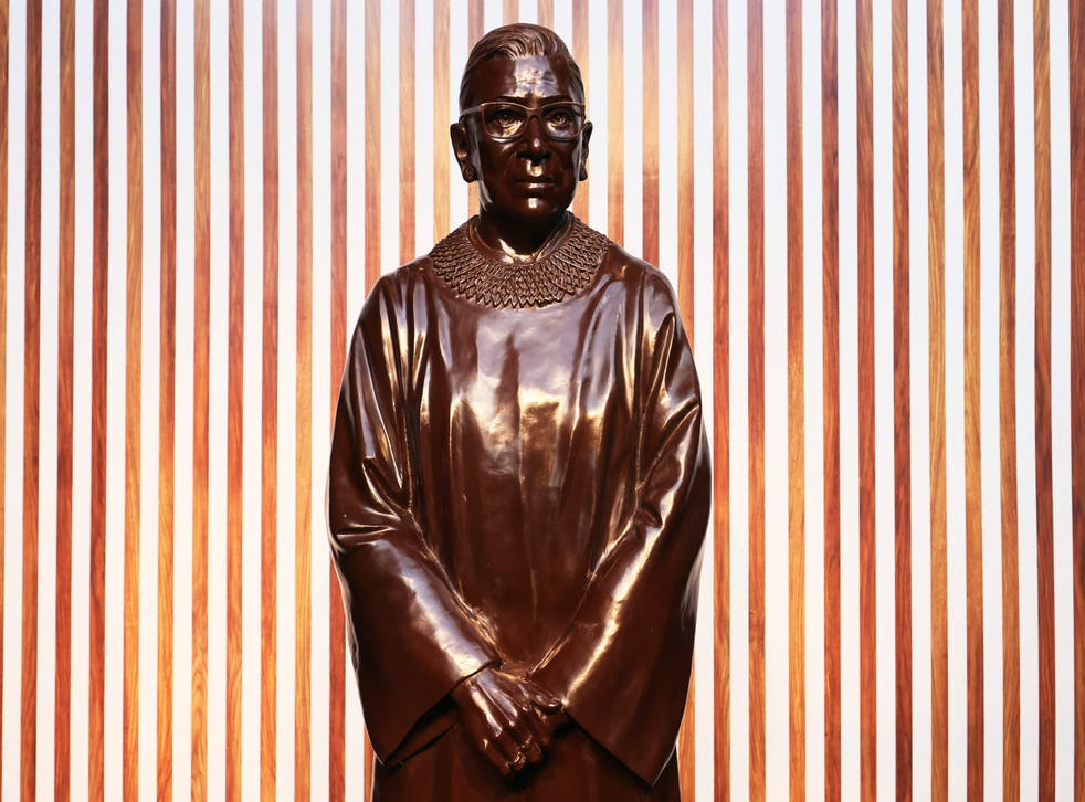 RBG statue unveiled in Brooklyn in honour of her birthday and Women's History Month