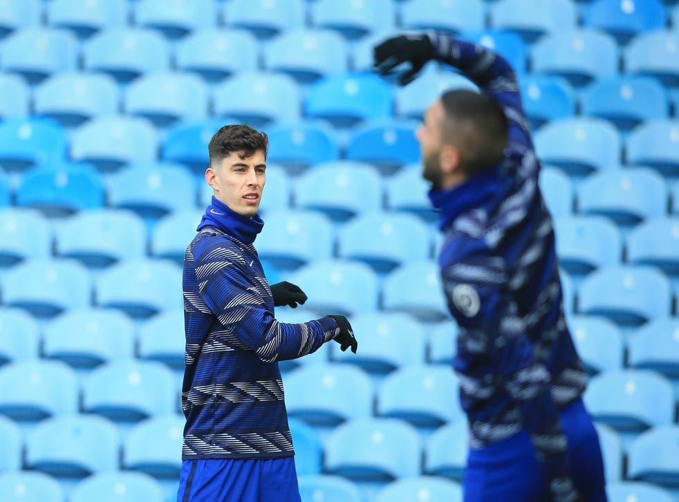 Kai Havertz of Chelsea warms up