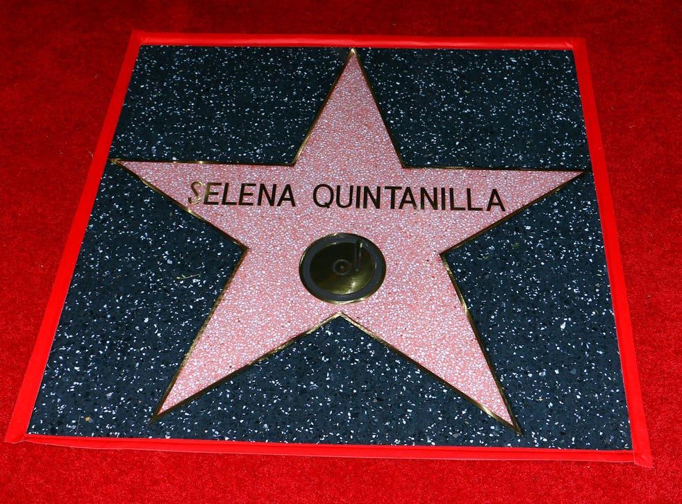 Imagen captada durante la develación de la estrella de Selena en el Paseo de la Fama en Hollywood, California. La Reina del Tex-Mex será homenajeada con un Grammy póstumo el 14 de marzo de 2021.