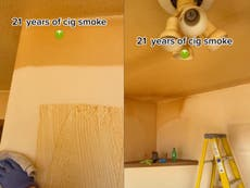 Viral TikTok shows before-and-after cleaning of home from 21 years of cigarette smoke