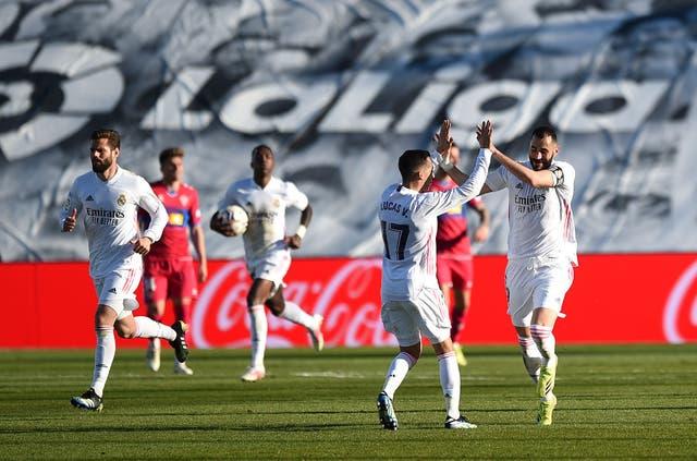 <p>Benzema llegó a 15 goles en la temporada</p>