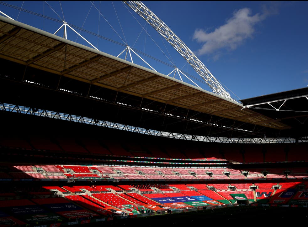 Wembley Stadium has a capacity of 90,000