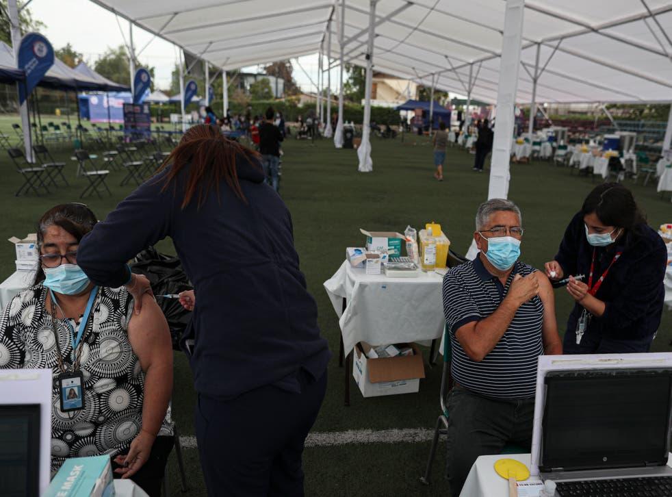 Virus Outbreak Chile