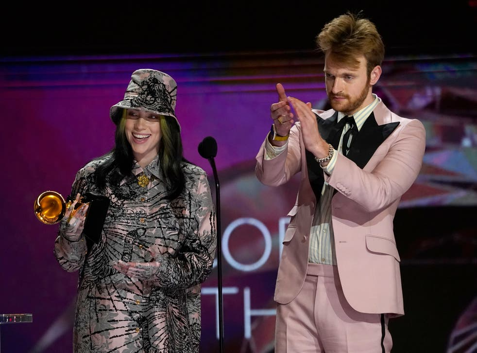 Billie Eilish and her brother/producer FINNEAS won Record of the Year for the second year in a row
