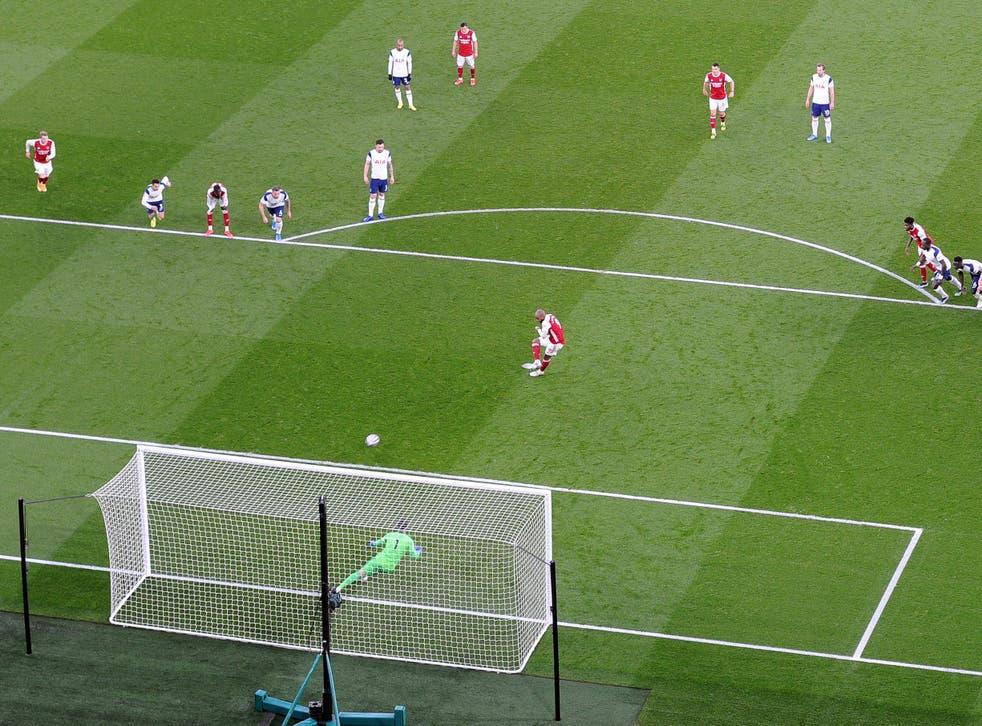 Alexandre Lacazette won and scored Arsenal's penalty against Tottenham