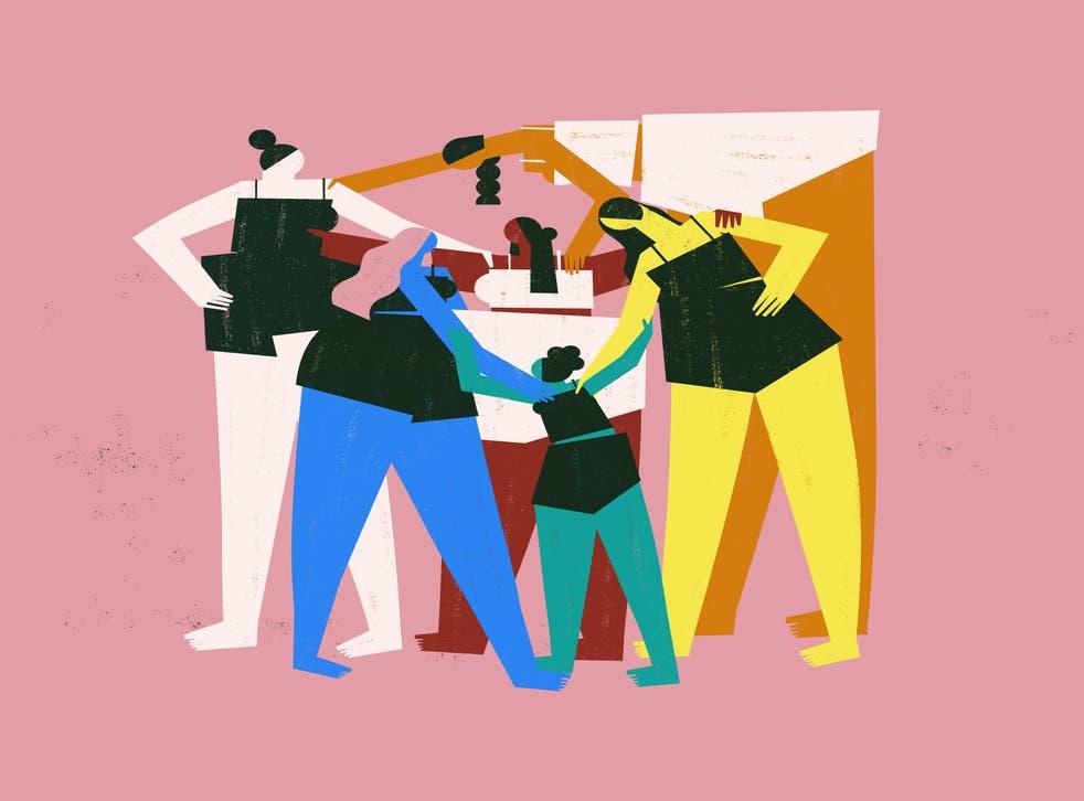 illustration of of diverse women
