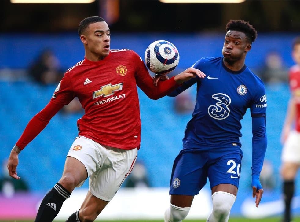 Manchester United forward Mason Greenwood and Chelsea forward Callum Hudson-Odoi