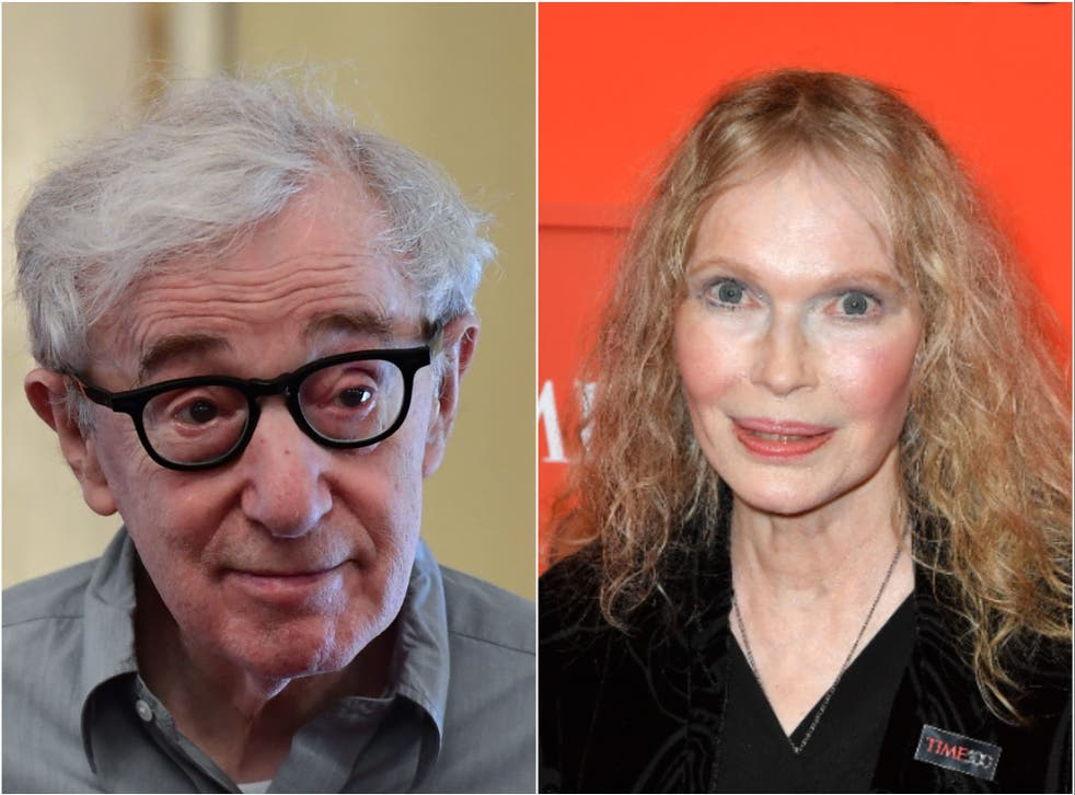 Woody Allen and former partner Mia Farrow