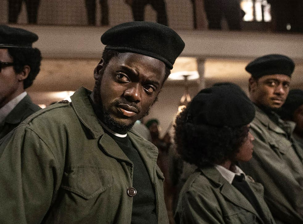 Oscar nominees Daniel Kaluuya and (lurking in the background) Lakeith Stanfield in Judas and the Black Messiah