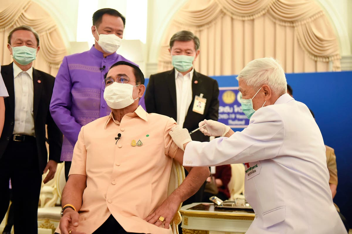 Thailand PM gets AstraZeneca jab, 1 Asian country suspends - The Independent