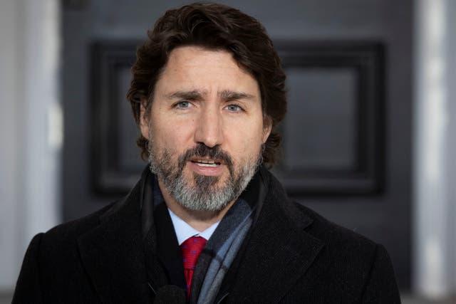 <p>Justin Trudeau en una sesión informativa sobre COVID-19 en Ottawa el 18 de diciembre de 2020</p>