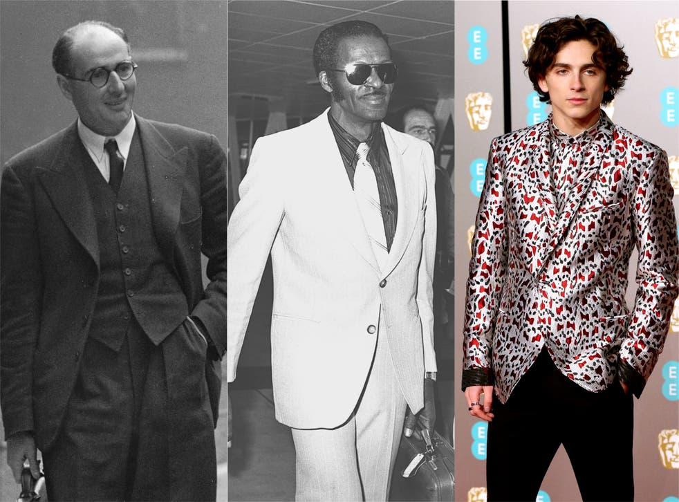 Composite of men wearing suits