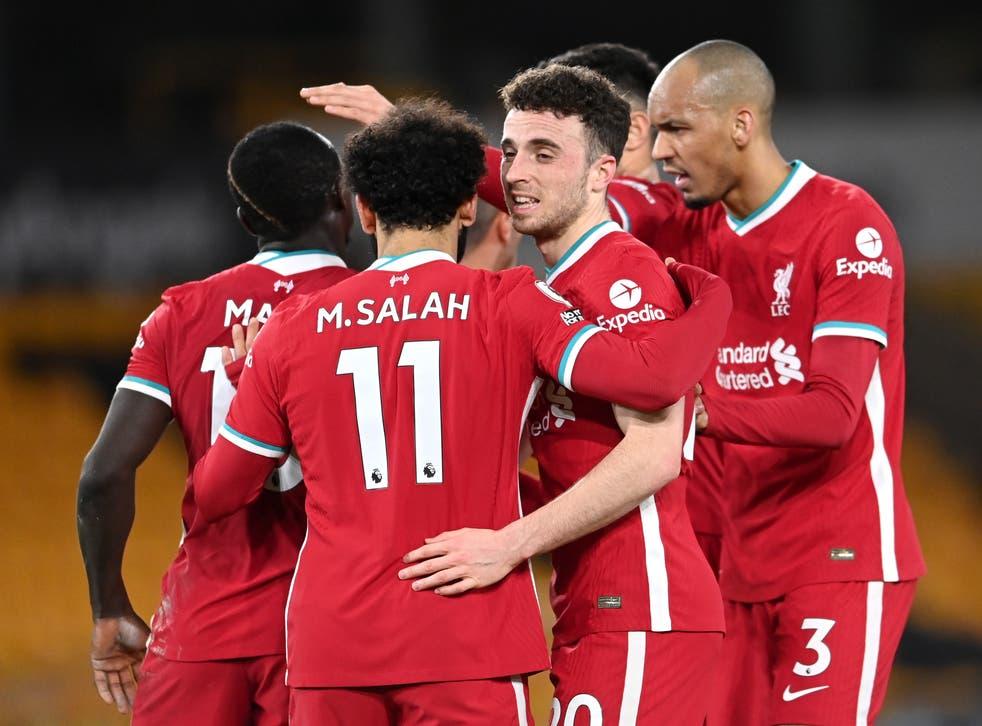 Diogo Jota scored Liverpool's winner against Wolves
