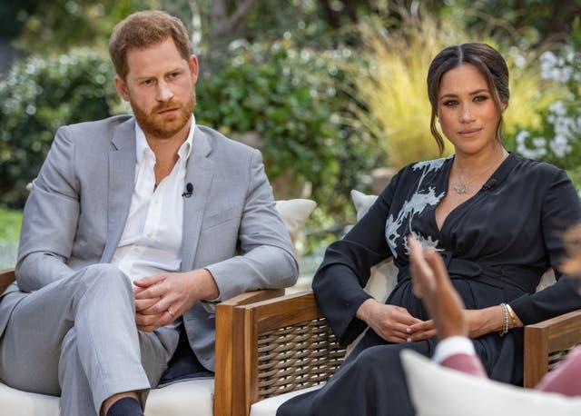 <p>The ex-royals meet Oprah</p>