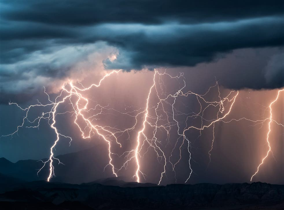 <p>A one degree Celsius increase in temperature would increase the frequency of lightning strikes by 12 per cent, scientists have warned</p>