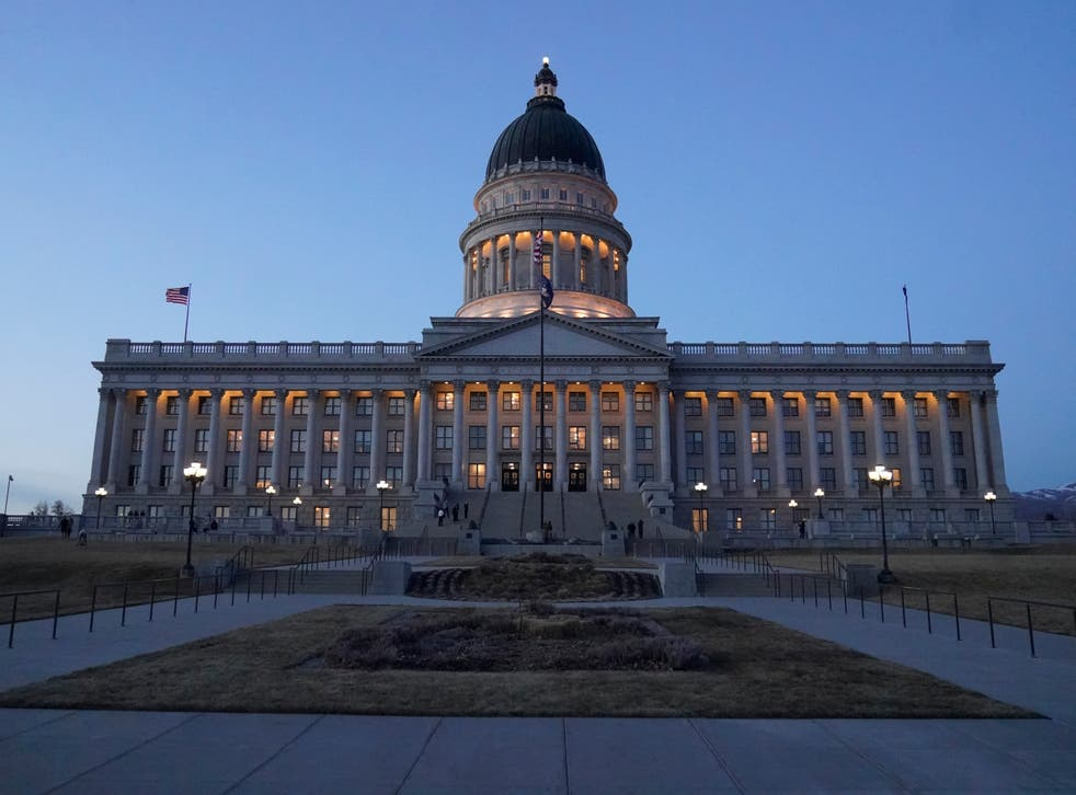 <p>The Utah Capitol is shown on March 5, 2021, in Salt Lake City Conservative lawmakers in Utah have fired another salvo in their longtime campaign against online porn with a new requirement that all cellphones and tablets sold in the state automatically block pornography in a plan that critics call a significant intrusion on free speech</p>